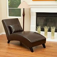 Chaise Lounge Armchair Amazon Com Laguna Brown Leather Curved Chaise Lounge Chair And