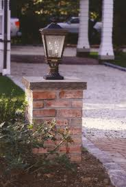 Outdoor Column Light by Brick Columns Building Tips How To Build A House