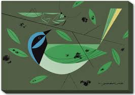 green jay canvas wall mural the charley harper gallery green jay canvas wall mural
