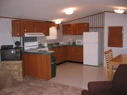concrete countertops mobile home kitchen cabinets lighting