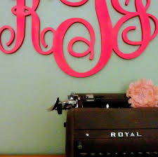 iron on monogram initials fancy inspiration ideas monogram wall hangings or stylish