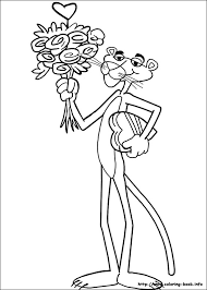 pink panther coloring pages coloring book