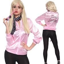 50 halloween costumes ladies pink satin jacket lady 50 u0027s 1950 u0027s frenchie rizzo fancy