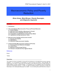 macroeconomic policy and poverty reduction pdf download available
