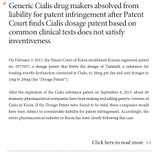 shin kim legal update generic cialis drug makers absolved from