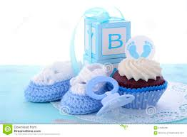 its a boy blue baby shower cupcakes stock photo image 57045766