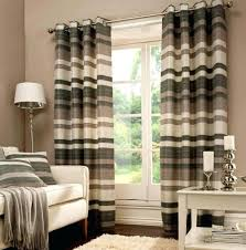 Brown And White Striped Curtains Black Striped Curtains Teawing Co
