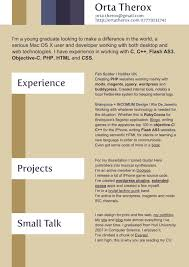 Examples Of A Resume For A Job by Interviewing Applying And Getting Your First Job In Ios Artsy