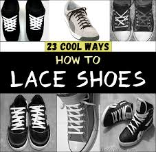 shoelace pattern for vans 23 cool ways to lace shoes guide patterns