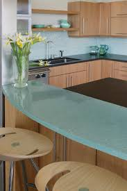 kitchen simple kitchen design featured glass countertop and