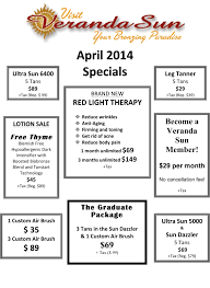 Vitamin D And Tanning Beds April Specials By Veranda Sun In Boulder Tanning And More
