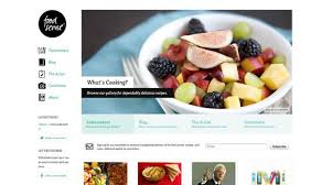 20 inspiring food related websites for your delight web design