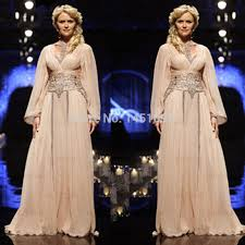 new arrival muslim fashion long sleeve evening gowns arabic