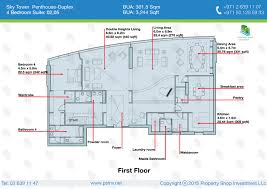 4 Bedroom Duplex Floor Plans 4 Bedroom Penthouse Duplex 6056 Sqft Floor Plan Sky Tower Al