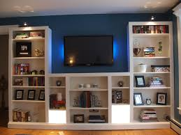 Bookcases With Lights Turning Ikea Bookshelves Into Builtins Diy Fan Ikea Billy And
