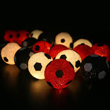 String Lights Balls by 2017 Red U0026white U0026black Cotton Balls String Lights Fairy Lamp Pastel