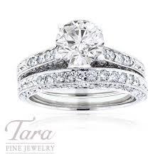 gold wedding rings sets 19k white gold wedding ring set 78 tdw tara jewelry