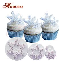 Christmas Cake Decorations Trade by Aliexpress Com Buy Christmas Theme Snowflake Fondant Plunger
