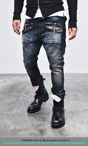 Guys Wearing Skinny Jeans Bottoms Jeans Edge Zippered Cargo Baggy Skinny Jeans 93