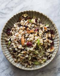 wild rice thanksgiving side dish wild rice salad with cranberries and pecans recipe simplyrecipes com