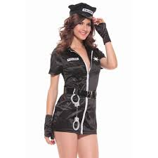 Halloween Police Costume Cosplay Black Police Costume Women Costumes
