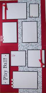 premade scrapbooks 12x12 premade scrapbook pages baseball scrapbook layout play