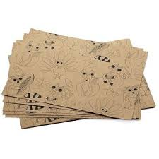 crate barrel critters thanksgiving paper placemats set of