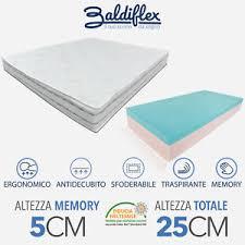 materasso memory materasso memory foam h25 cm mysuite plus baldiflex antiacaro