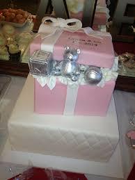 tiffany box inspired baby shower cake on we heart it