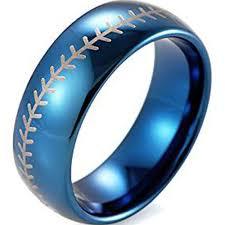 Baseball Wedding Ring by Titanium Ring Bridal Wedding Engagement Rings Fashion And