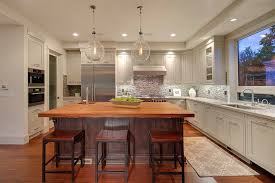 Light Kitchen Countertops Contemporary Kitchen With Hardwood Floors Built In Bookshelf In