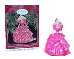 1990 holiday barbie ornament
