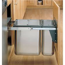 built in trash can cabinet pull out built in trash cans cabinet slide under sink intended for