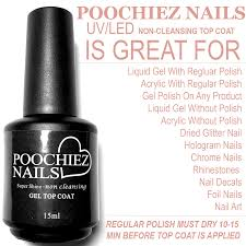 poochiez nails super shine uv led top coat