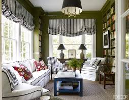 beautiful small living room design with green wall paint color and