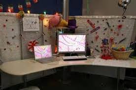 cubicle wallpaper covers beige partitions cant conceal life of