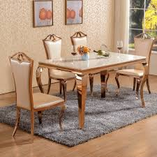 Dining Table Chairs Set Gold Dining Setting Marble Top Style And Attic