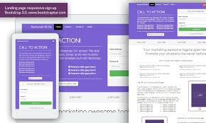 landing page responsive signup form bootstrap 3