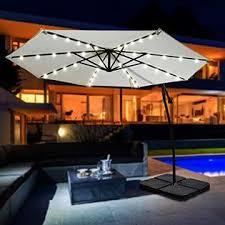 sunrise umbrella u022 270 brw 9ft cantilever solar powered led