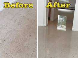 before after vct wax in paltz ny the flooring source