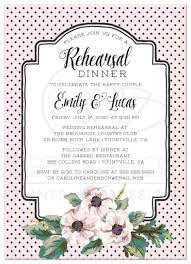 rehersal dinner invitations wedding rehearsal dinner invitations retro polka dots flowers