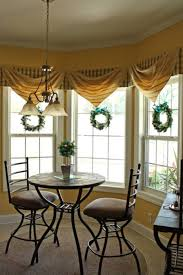 window treatments for bay windows with plaid valances and fabrics