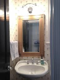 Powder Room Photos - tone on tone powder room renovation