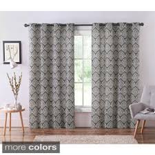Alton Solid Grommet Window Curtain Panel Vcny Carla Grommet Top 84 Inch Panel Free Shipping On Orders