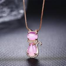 bow tie necklace images Rose silver quartz crystal rose gold plated bow tie cat necklace jpg