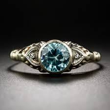 blue zircon jewelry necklace images Vintage blue zircon ring jpg