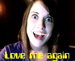 Creepy Girlfriend Meme - overly attached computer samsung commercial taps creepy web celeb