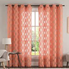Coral Sheer Curtains Rugs Curtains Panel Coral Sheer Curtains For Mesmerizing