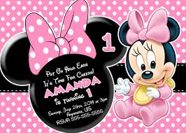 minnie mouse invitations baby minnie mouse 1st birthday invitations alanarasbach