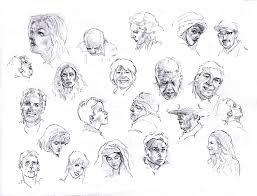 faces sketch study 3 by silentjustice on deviantart